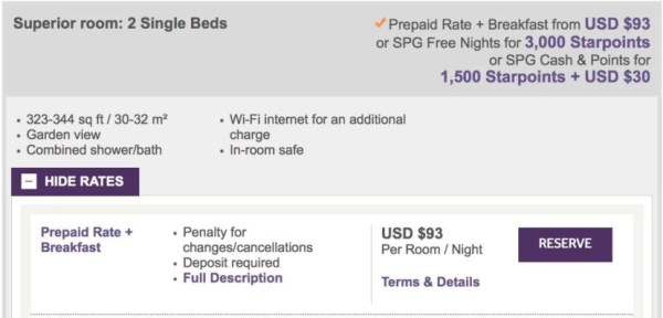 My room cost just $93 a night — and I got the 4th night free thanks to my Citi Prestige card.