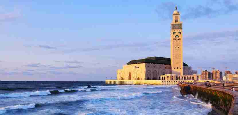 A lovely shot of the Hassan II Mosque in Casablanca. (Photo courtesy of Shutterstock)
