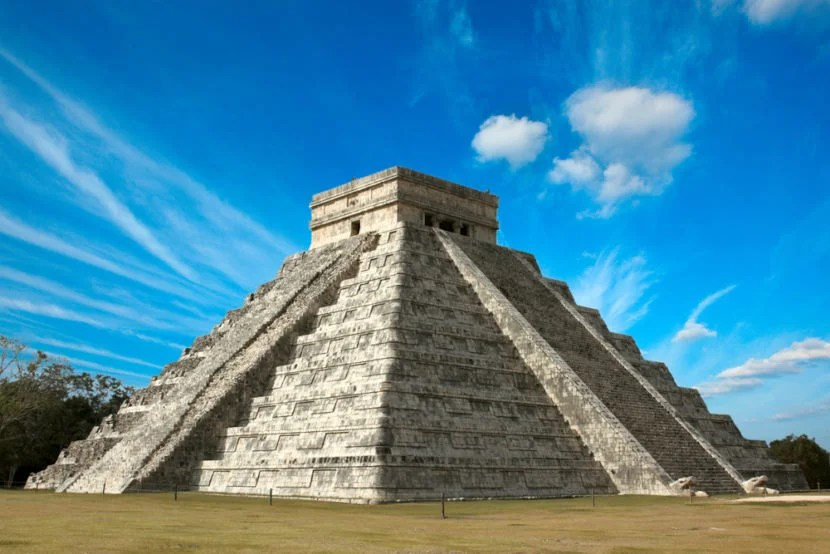 """Chichen Itzá is just one hour from the airport. Image courtesy of <a href=""""http://www.shutterstock.com/pic-47443579/stock-photo-mayan-pyramid-of-kukulcan-el-castillo-chichen-itza-mexico.html?src=QYKBCyBv_4qkMnEzeJT5Fg-1-0"""">Shutterstock</a>."""