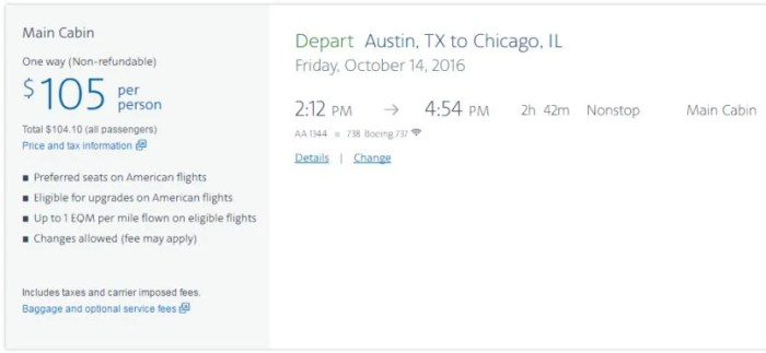 American Airlines is now stating benefits that shouldn't need to be explicitly listed.