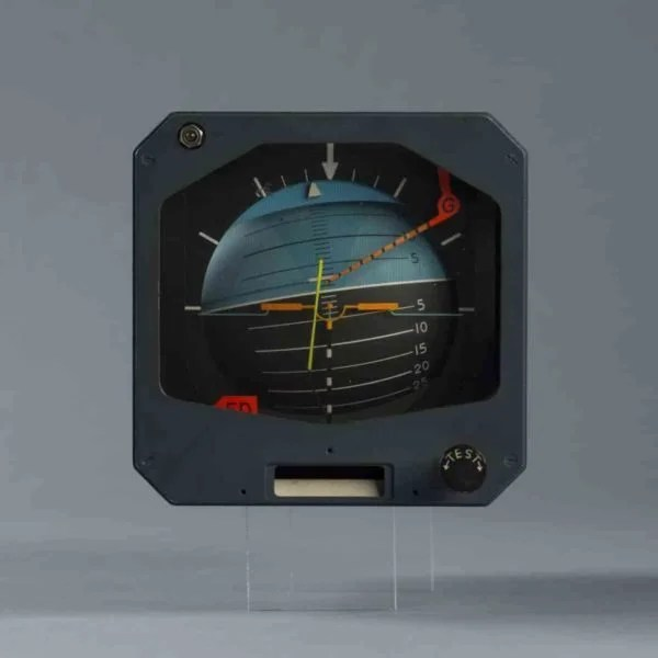 An attitude indicator from the Concorde. Image courtesy of Marc LaBarbe.
