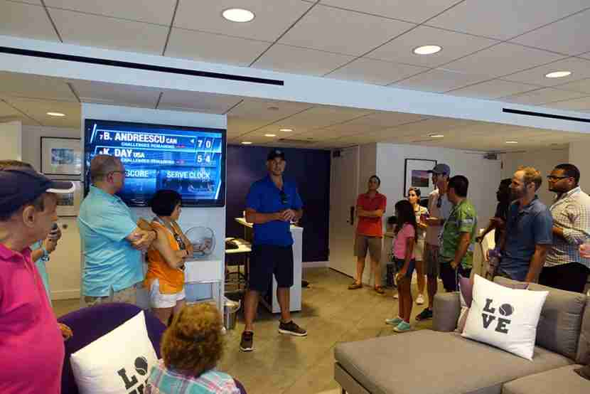 Andy stopped by the Suite to say hi and answer any questions.