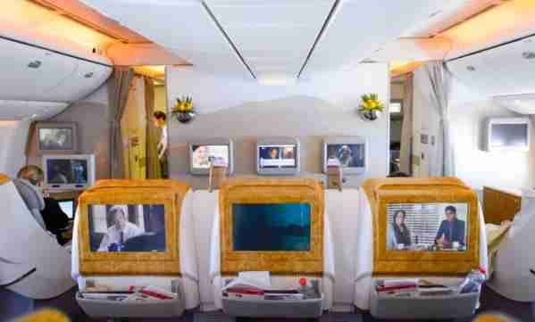 Enjoy Emirates 777 business class on a couple of short intra-Europe flights.