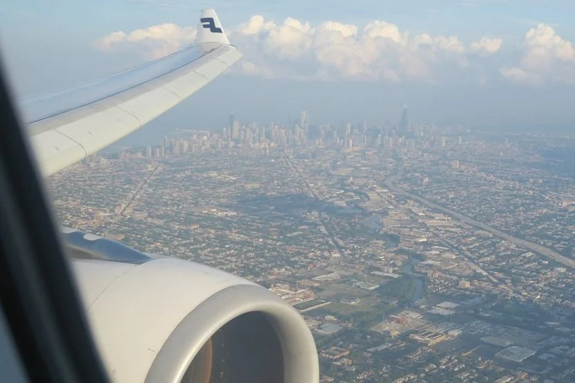 I had an excellent view of downtown Chicago on final approach into ORD.