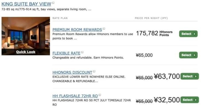 $320 per night for a suite at the Conrad Tokyo.