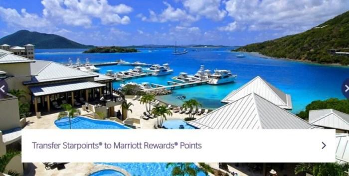 Transfer Starpoints to Marriott