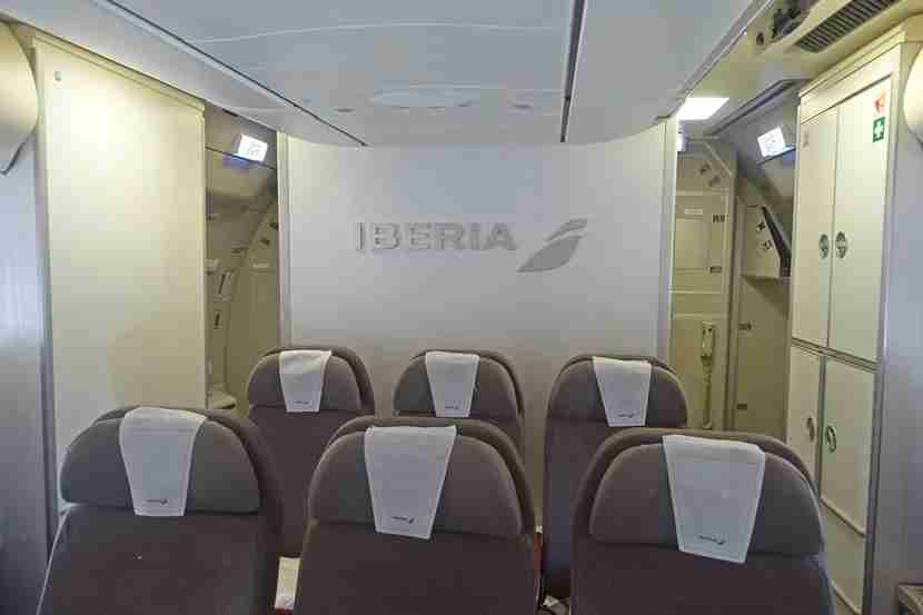The economy seats on Iberia.