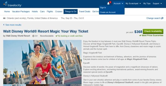 "Buy your Disney World tickets at Travelocity so it will code as ""travel""."