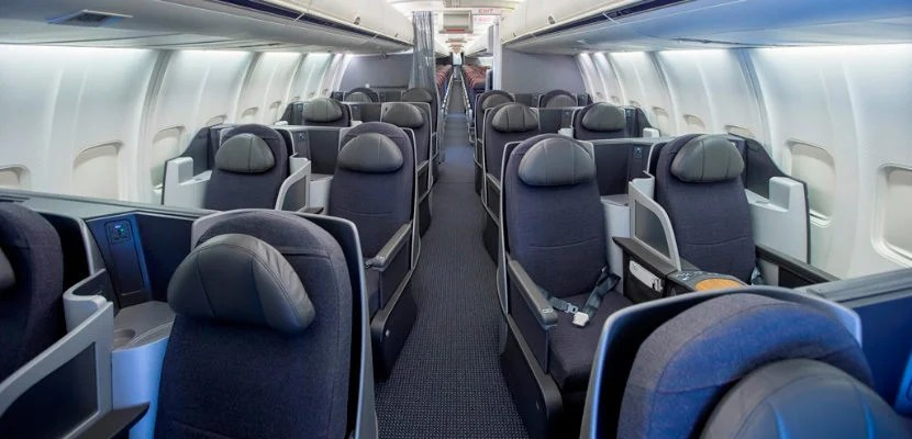 american airlines 757 business class