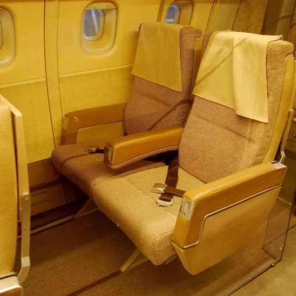 Seats from the Concorde 201, the first model in the series of jets. Image courtesy of Marc LaBarbe.