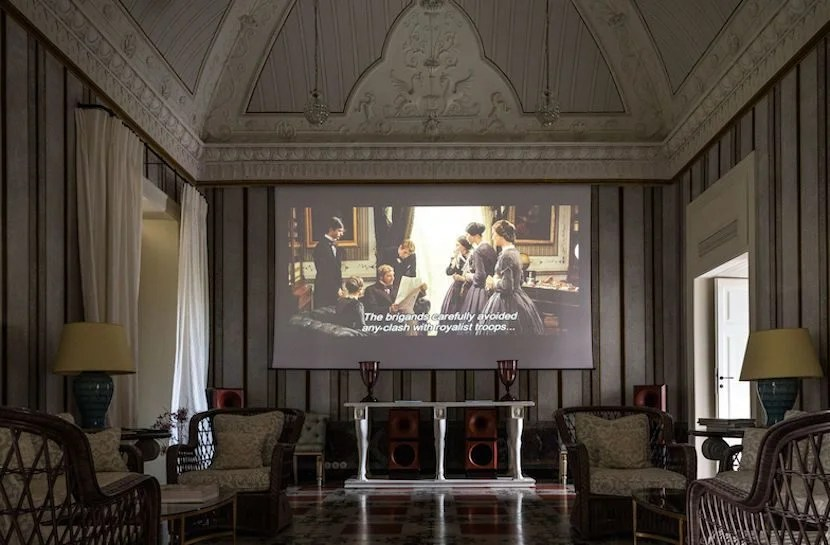 Leave it to Francis Ford Coppola to make sure that his hotel has a cinema. Image courtesy of Palazzo Margherita.