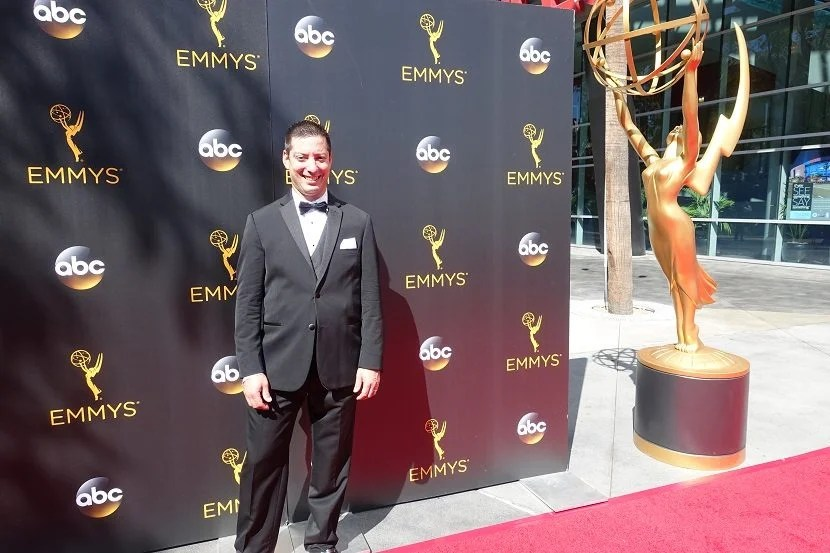 First, I had my picture taken by the entrance to the Red Carpet.