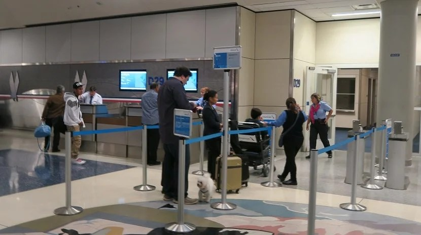 Boarding was surprisingly orderly for an American Airlines domestic flight.