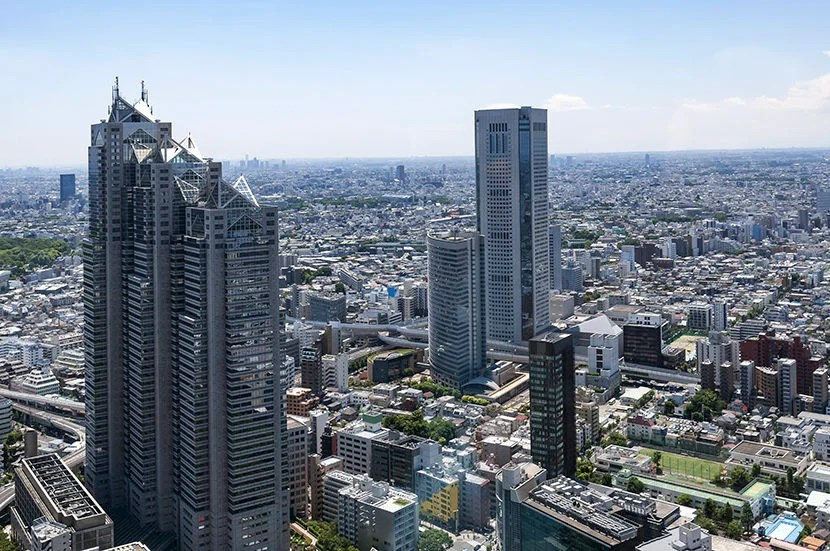 """The view from the Tokyo Metropolitan Government building puts the world's biggest city in perspective. Image courtesy of <a href=""""http://www.shutterstock.com/pic-457087885/stock-photo-aerial-view-of-the-japanese-capital-city-seen-from-the-metropolitan-government-building-tokyo-city-hall.html?src=p2LRqhA22d8mFpkgPiU8DQ-1-17"""">Shutterstock</a>."""