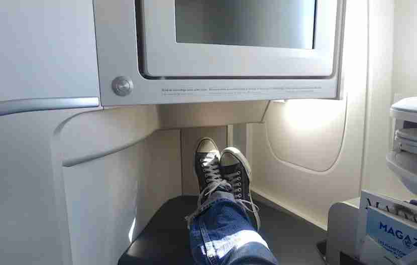 Plenty of room for my feet.