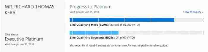 Log in to your airline accounts to judge what action you can take to earn the next elite status.
