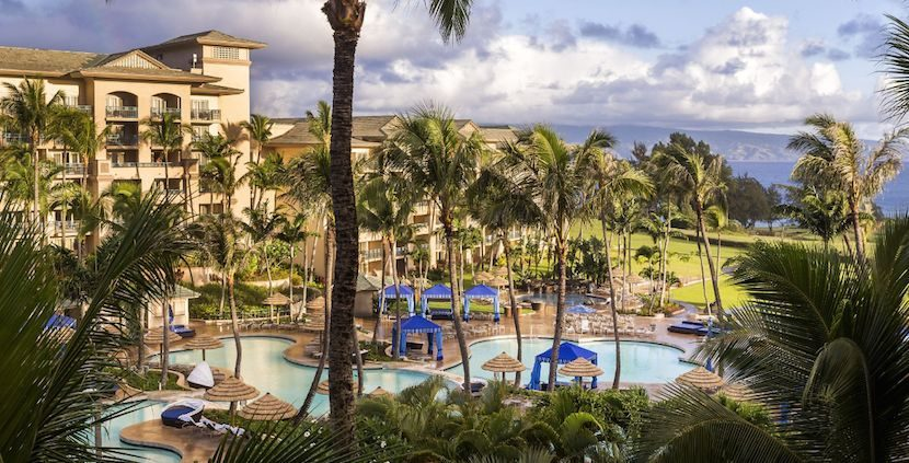 Use your free nights at a property like the luxurious Ritz-Carlton, Kapalua on Maui. Image courtesy of Ritz-Carlton.