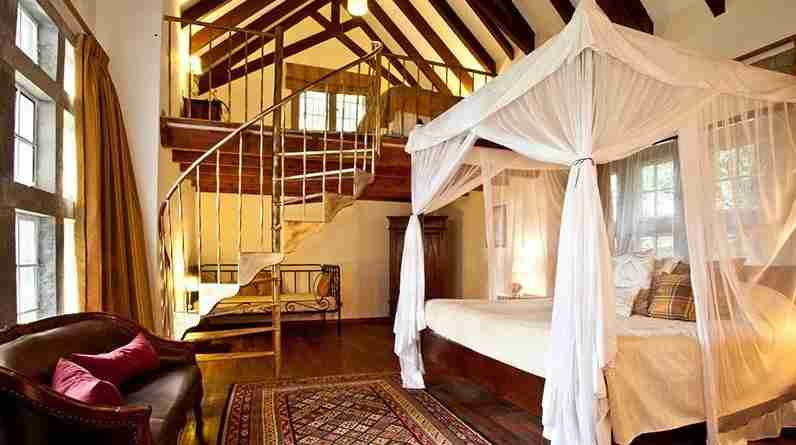 The Karen Blixen suite. Image courtesy of Giraffe Manor.