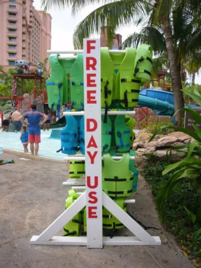 There are life vests for day use, but get there early if you need a kids' size.