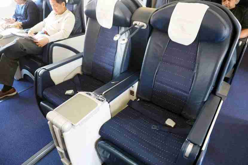 The seats were comfortable, especially for such a short flight.