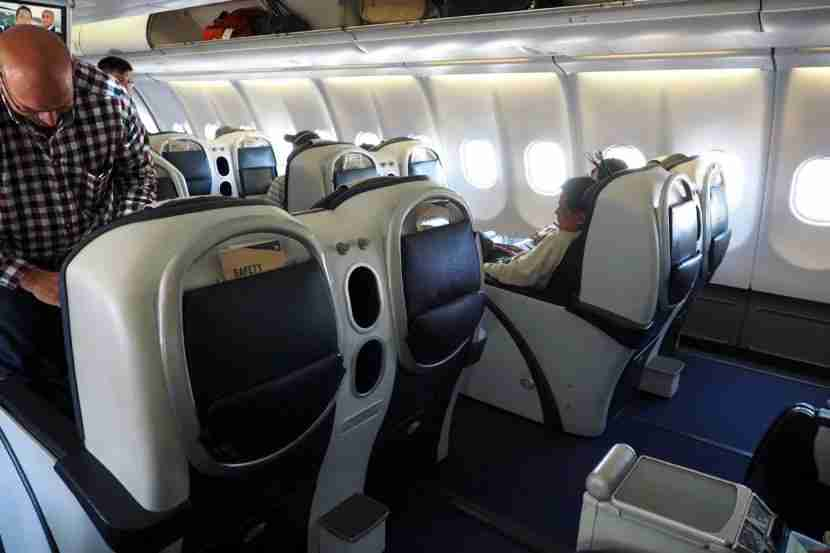 The seats pretty much looked the same as those on the A340-600.
