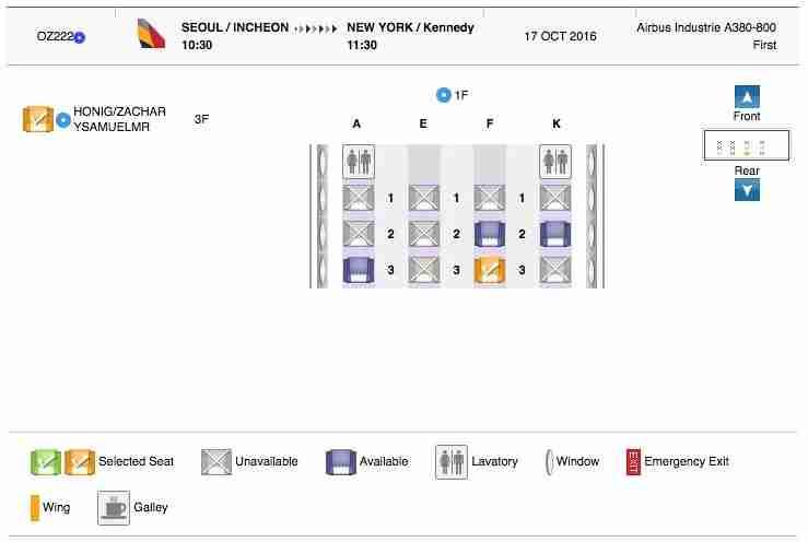 Asiana A380 First Class Review JFK