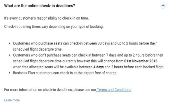 Ryanair will start charging for early online check-in November 1.