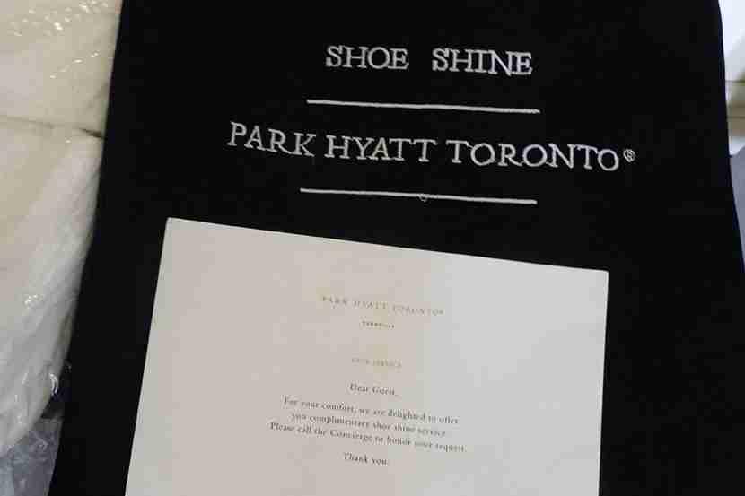 Thanks for the shoe shine, Park Hyatt!