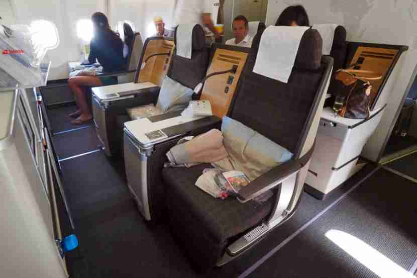 Swiss Air Business Class seats.
