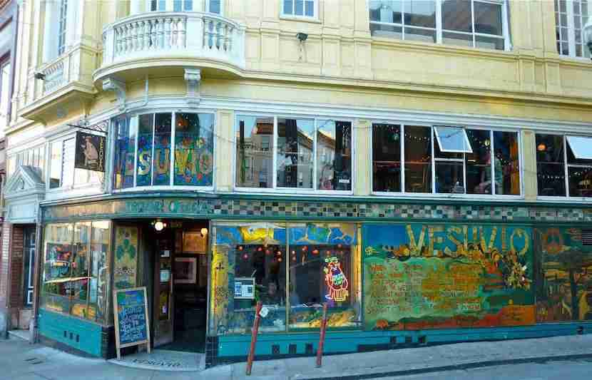 Grab a drink at this quirky and cool gem in North Beach. Image courtesy of Vesuvio Cafe
