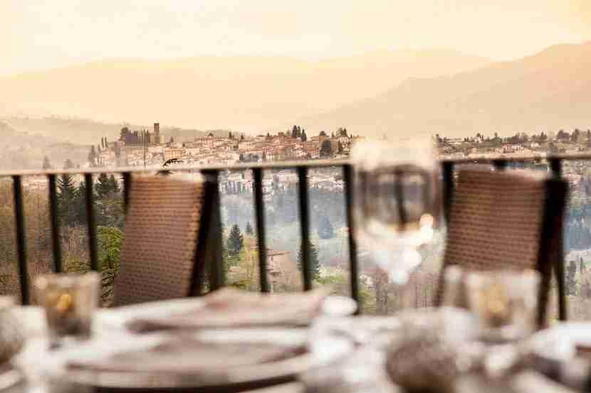 View from Veranda Restaurant at Renaissance Tuscany. Image courtesy of the hotel.