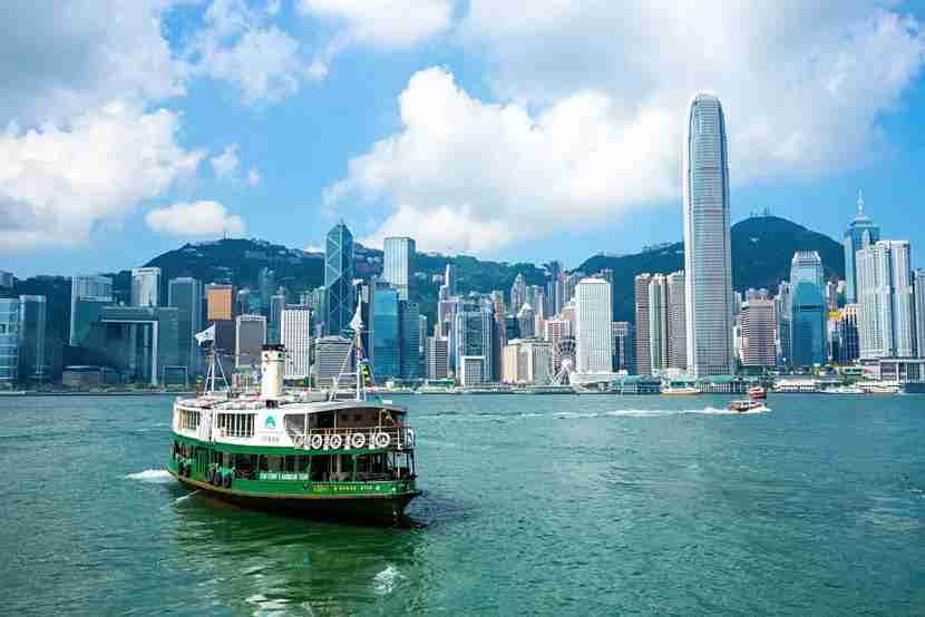 """The iconic Star Ferry offers lovely views of Victoria Harbour. Image courtesy of<a href=""""http://www.shutterstock.com/pic-310256879/stock-photo-hong-kong-august-4-2015-hong-kong-international-finance-centre-2ifc-2-4158-m-on-august-4-2015-hong-kongs-famous-landmarks-completed-in-2003.html?src=undefined-1-0"""" target=""""_blank"""">Shutterstock</a>."""