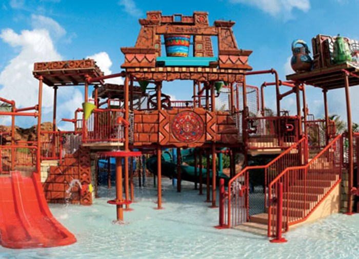 One of the kids' pools. Image courtesy of Atlantis.