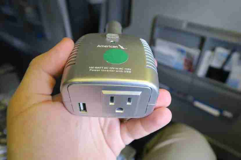 I was appreciative of the DC-to-AC converter the cabin crew let me borrow, but it didn