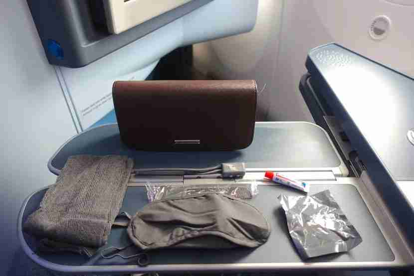 The amenity kit was a bit underwhelming.