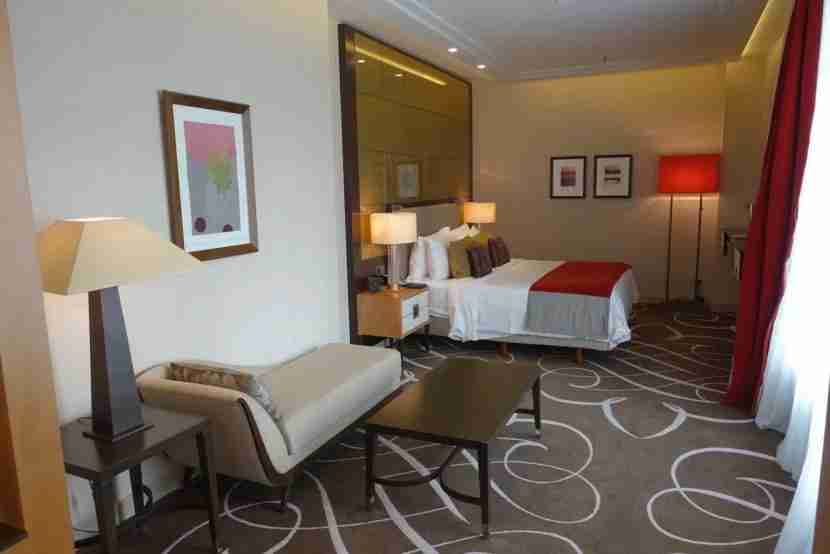 The bedroom area of the suite.