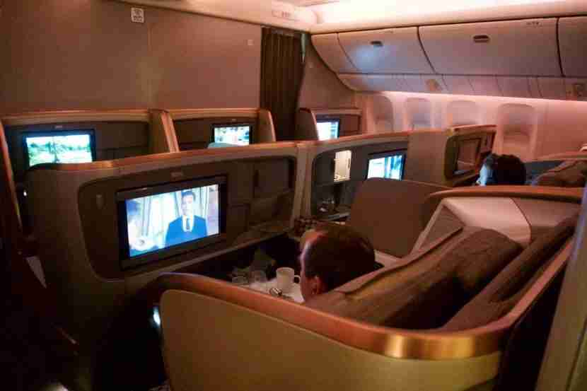 The business class cabin could pass for first class on many airlines