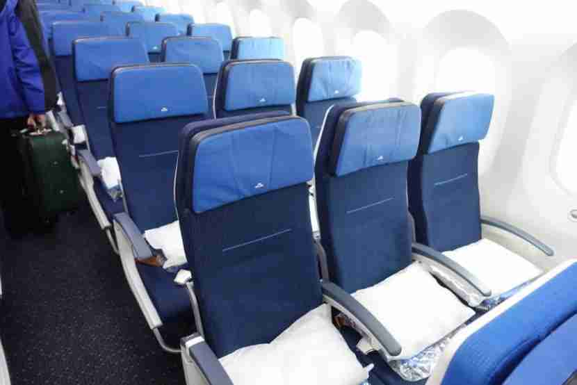 Another shot of the economy seats.