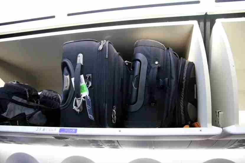 Vertical loading of luggage allows for a lot more space