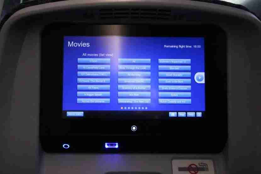 The In-Flight Entertainment system matched the best I