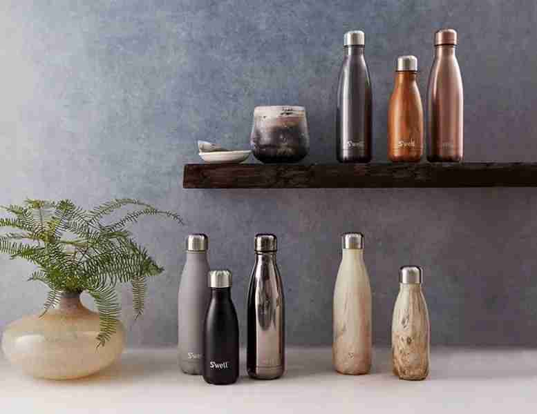 Why not use a reusable bottle, like these S