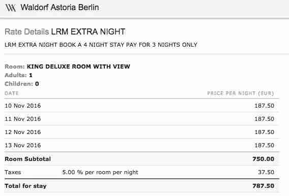 Because the discount was spread across all four nights, the Citi Prestige benefit would apply.
