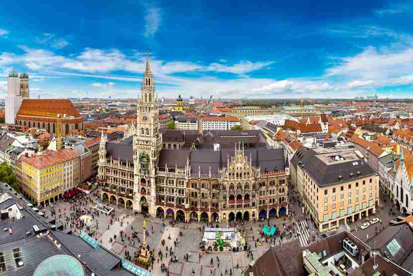 "<em>Image courtesy of <a href=""http://www.shutterstock.com/pic-348837170/stock-photo-aerial-view-on-marienplatz-town-hall-and-frauenkirche-in-munich-germany.html?src=0pgApME0qHdFGKv7ZQGzOQ-1-1"" target=""_blank"">Shutterstock</a>.</em>"