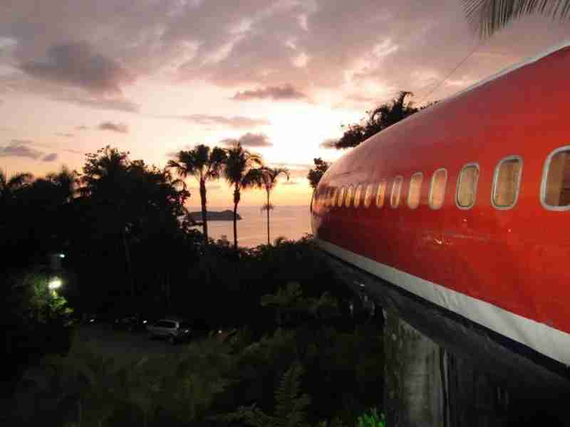 Ocean sunsets from your very own Boeing. Image courtesy of the Costa Verde Hotel.