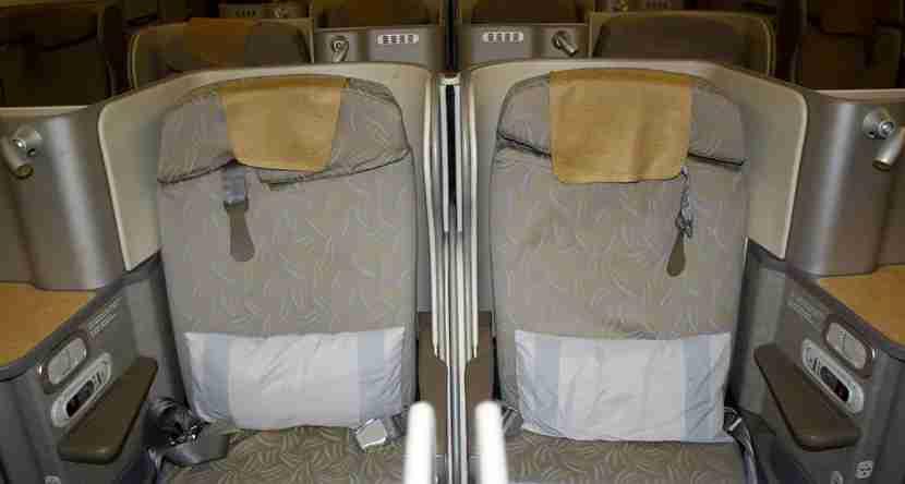 Asiana 777 3E 3F Seat