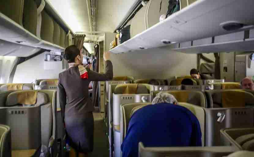Asiana 777-200ER Business Class cabin