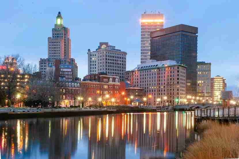The skyline of downtown Providence. (Photo by Yiming Chen / Getty Images)