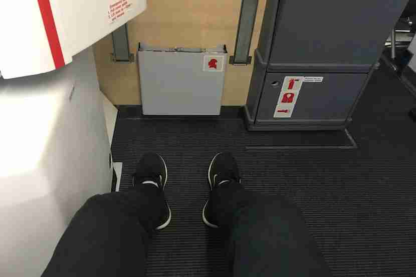 Seats 40A,B,G and H in economy offer the most legroom.