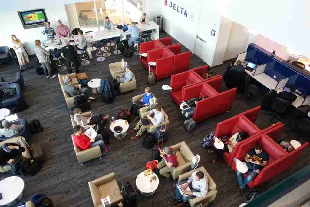 An overhead shot of the lounge.