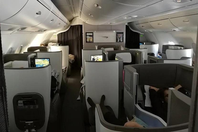 British Airways business class A380 LHR - IAD